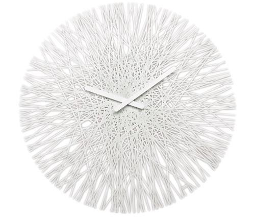 Große Wanduhr Modern koziol silk wanduhr solid weiß nr ko2328525 wanduhren