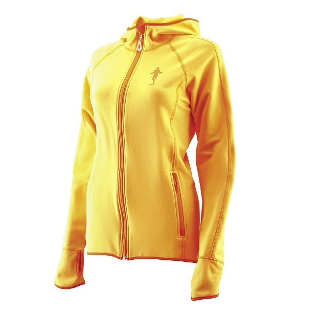 Produktfoto thoni mara runner´s wear DAMEN Fleece - Hoodie sunflower