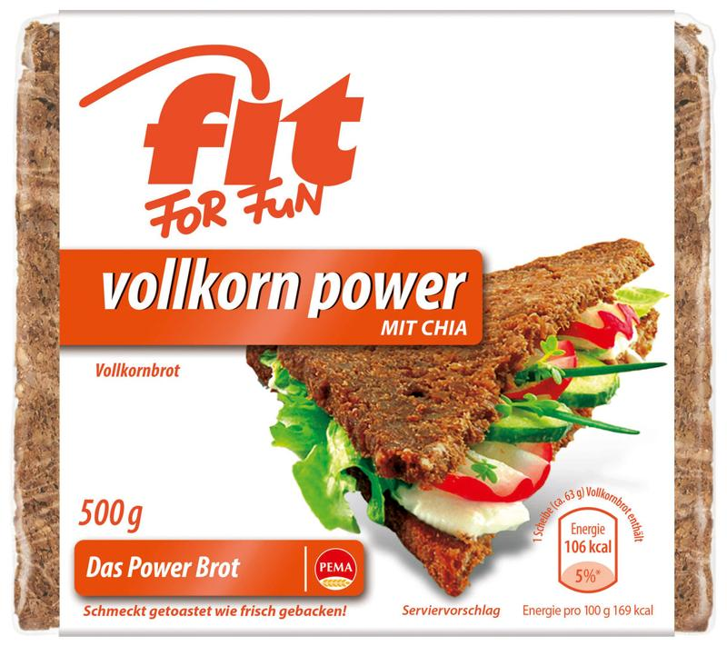 Produktfoto PEMA FIT FOR FUN Vollkorn Power mit Chia 500g