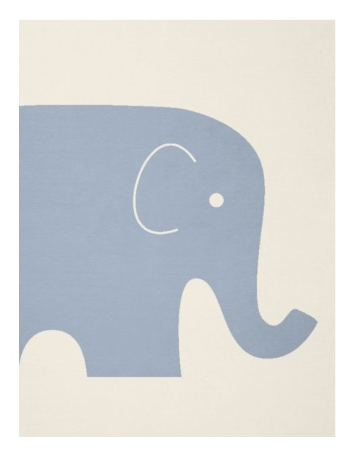 Produktfoto Kinderdecke bio cotton kids Motiv Elefant