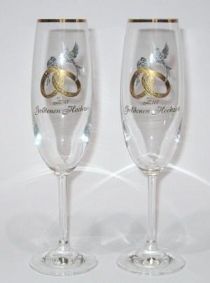 Cipin Hochzeitsglãser Set Goldene Hochzeit Artnrciv018