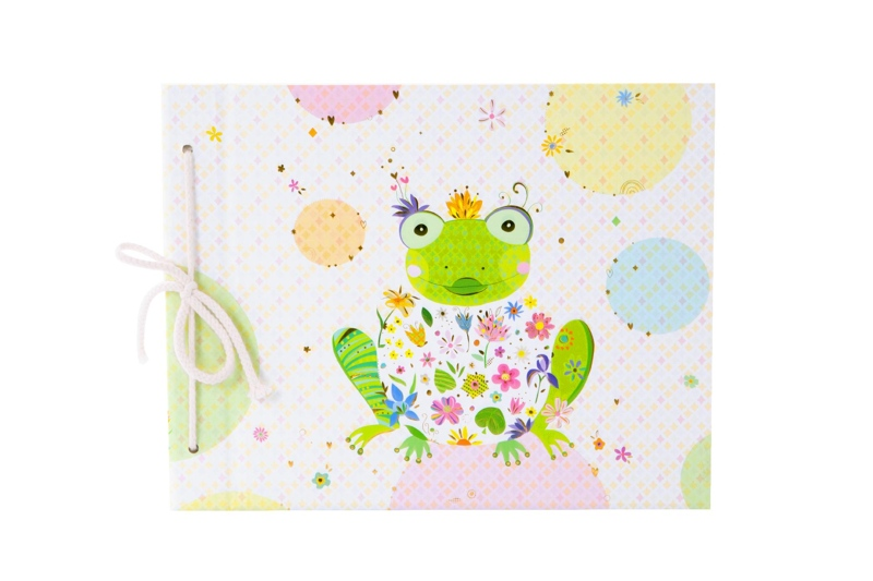 Produktfoto goldbuch Kinderalbum Happy Frog by Turnowsky mit Kordel