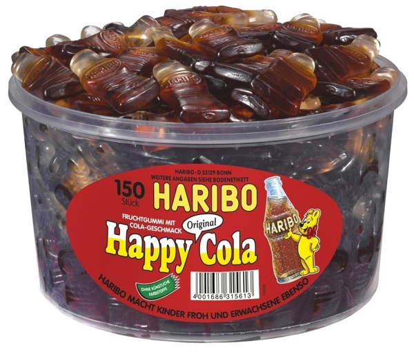 Produktfoto Haribo Snack Box Happy Cola 150 Stk.