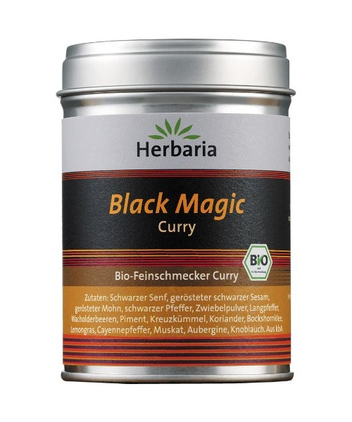 Produktfoto Herbaria Black Magic Curry - Bio Gewürzmischung 80g