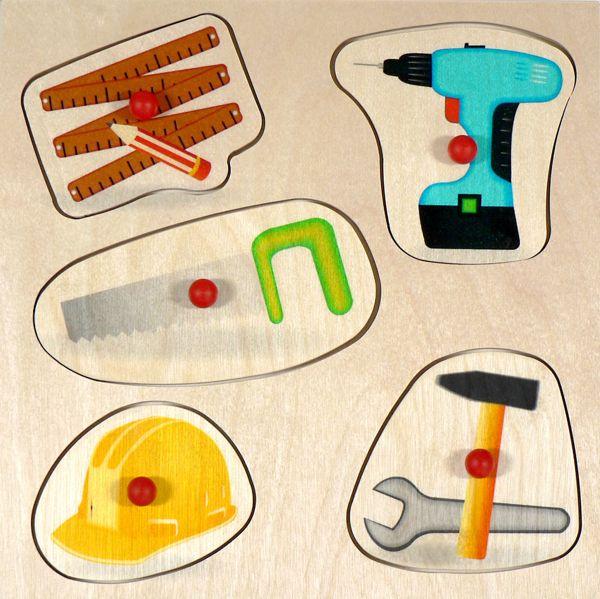 hess holz griffpuzzle werkzeug 5 teile art nr hes14886 baby kleinkind gutes aus. Black Bedroom Furniture Sets. Home Design Ideas