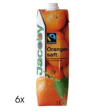 Produktfoto Jacoby Orangensaft Fairtrade (6 x 1,0l)