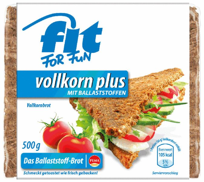 Produktfoto PEMA FIT FOR FUN Vollkorn Plus 500g