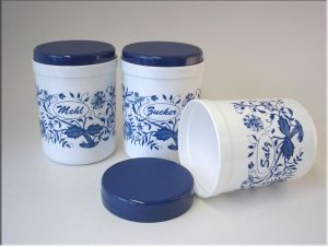 Vorratsdosen Mehl Zucker Salz sonja plastic vorratsdose mehl zucker salz 1l zwiebelmuster