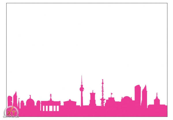 Produktfoto 44spaces City Skyline Postkarte pink