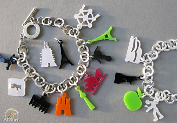 Produktfoto 44spaces City Skyline Charm Bracelet, versilbert in Geschenkbox