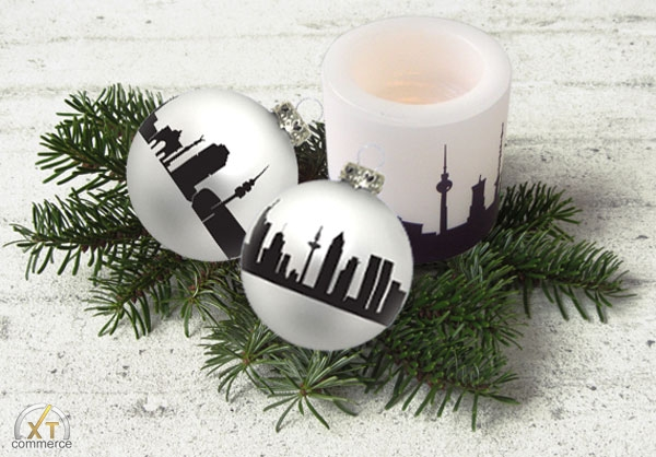 Produktfoto 44spaces City Skyline Christbaumkugel