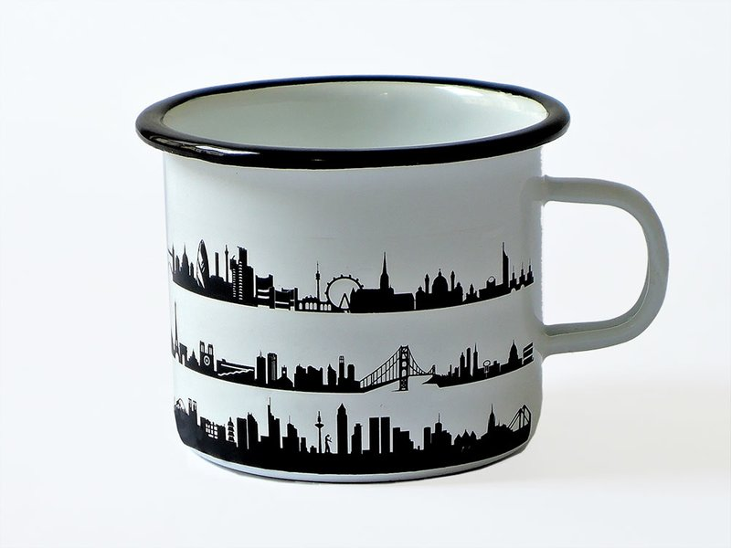 Produktfoto 44spaces City Skyline Emaille Tasse / Mug