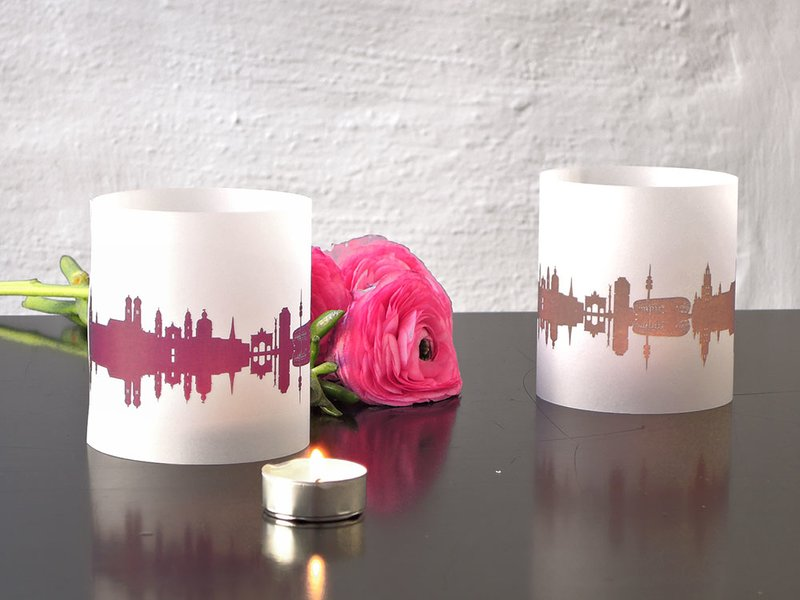 Produktfoto 44spaces City Skyline Windlicht / Shade, 2-er Set