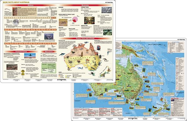 Produktfoto Stiefel Schreibunterlagen Basic Facts about Australia/New Zealand (engl.)
