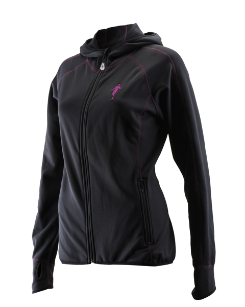Produktfoto thoni mara runner´s wear DAMEN Fleece - Hoodie schwarz