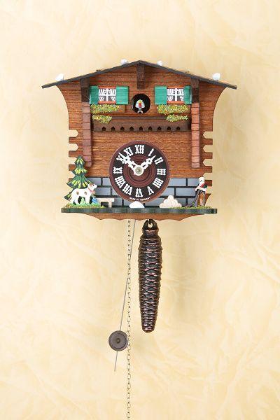 mechanische kuckucksuhr 17cm mit viertelruf und 1 tag kettenzugwerk art nr tre623 geschenke. Black Bedroom Furniture Sets. Home Design Ideas